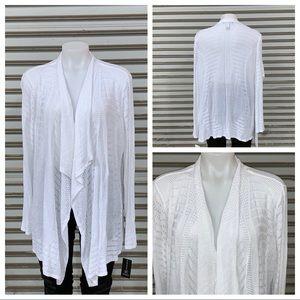 International Concepts white cardigan NWT